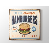 Vintage Burger Afişi