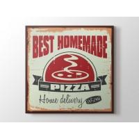 Vintage Pizzacı Afişi