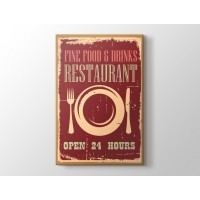 Vintage Restoran Afişi