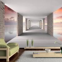3D Efekt Sonsuz Tünel Derinliği 3 Boyutlu Duvar Kağıdı model1