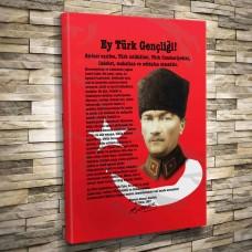 Atatürkün Genclige Hitabesi,kanvas tablo,uygun fiyatlarla