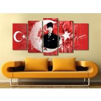 Gazi Mustafa Kemal Atatürk Temalı Kanvas Tablo