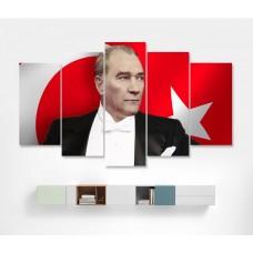 Ulu Önder Mustafa Kemal Atatürk Temalı Kanvas Tablo,kanvas tablo,uygun fiyatlarla