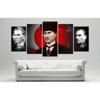 Yeni Kalpakli Atatürk Temali Kanvas Tablo