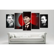 Yeni Kalpakli Atatürk Temali Kanvas Tablo,kanvas tablo,uygun fiyatlarla