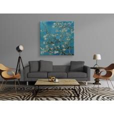 Çiçek açan badem ağacı,kanvas tablo,uygun fiyatlarla