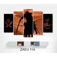 At üstünde Hz Ali ve Zülfikar Temali Yeni Kanvas Tablo