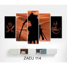 At üstünde Hz Ali ve Zülfikar Temali Yeni Kanvas Tablo,kanvas tablo,uygun fiyatlarla