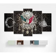 Osmanlı Tuğralı Özel Tasarım Kanvas Tablo-16,kanvas tablo,uygun fiyatlarla