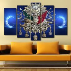 Osmanlı Tuğralı Özel Tasarım Kanvas Tablo-07,kanvas tablo,uygun fiyatlarla