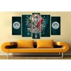 Osmanlı Tuğralı Özel Tasarım Kanvas Tablo-03,kanvas tablo,uygun fiyatlarla