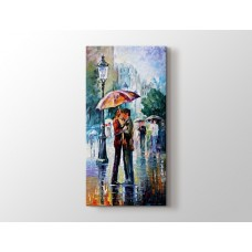 Şemsiye altı öpücük