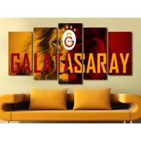 Galatasaray Aslan Temalı Kanvas tablo