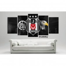 Yeni Besiktas Kartal carsi Temali Kanvas Tablo Model2