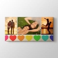 Üç fotoğraftan kalpli tablo