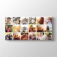 18 fotoğraftan panorama mozaik tablo