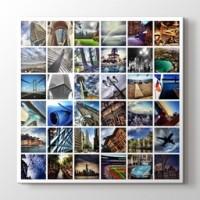 36 fotoğraftan kare mozaik tablo