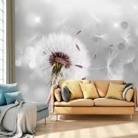 3D Efekt Kara Hindiba Çiçeği Soyut Nesneler 3 Boyutlu Duvar Kağıdı