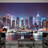 3D Efekt New York Şehir Manzaralı Duvar Kağıdı