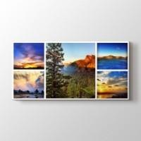 5 fotoğraftan panorama kolaj tablo