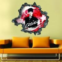 Atatürk 3d Duvar Stickerı