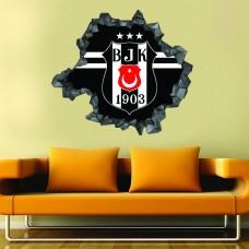 Beşiktaş 3d Duvar Stickerı