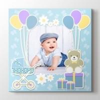 Erkek bebek için fotoğrafından kanvas tablo