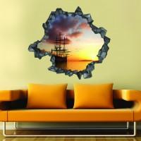 Gemi 3d Duvar Stickerı