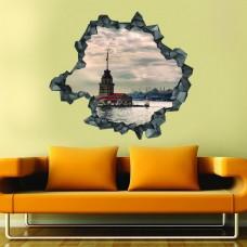 Kız Kulesi 3d Duvar Stickerı