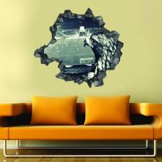 Kara Kratal 3d Duvar Stickerı