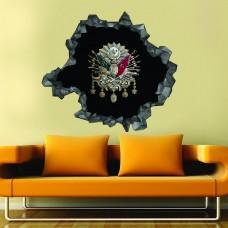 Osmanlı Arması 3d Duvar Stickerı