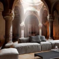 Sütun Temalı Duvar Kagıdı Modeli