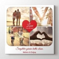 Sevgililer günü kalpli kanvas
