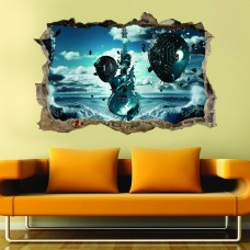 Uzay 3d Duvar Stickerı-02