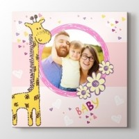Zürafalı fotoğrafından kanvas tablo